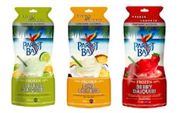 Parrot Bay 'freeze-and-squeeze' cocktail