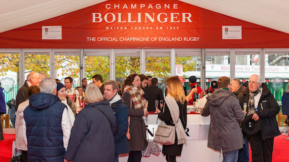 champagne bollinger england rugby
